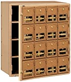 Salsbury Industries 2016FL  Mailbox, 16 Doors, Front Loading, Brass