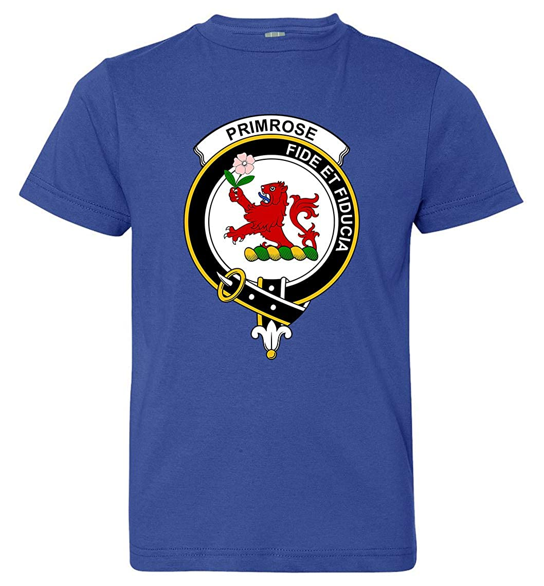 Tenacitee Boys Youth Scottish Clan Crest Badge Primrose T-Shirt
