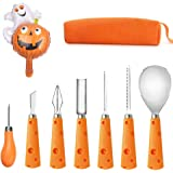 Pumpkin Carving Tools with Carrying Bag- Professional Stainless Steel 7 pcs Carving Tools For Kids and Adults Halloween Jack-