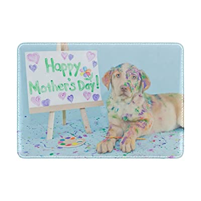 Yuihome Passport Holder Cover Case Travelling Puppy Genuine Leather