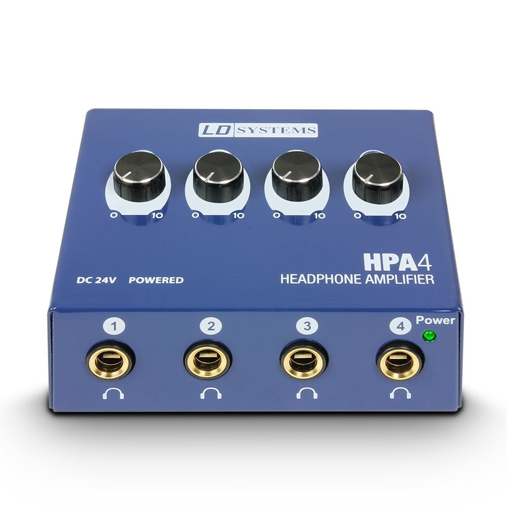 LD Systems Audio Tools LDHPA4 HPA4 Electric Guitar Headphone Amplifier