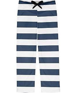 RNK Shops Orange /& Blue Stripes Mens Pajama Pants Personalized