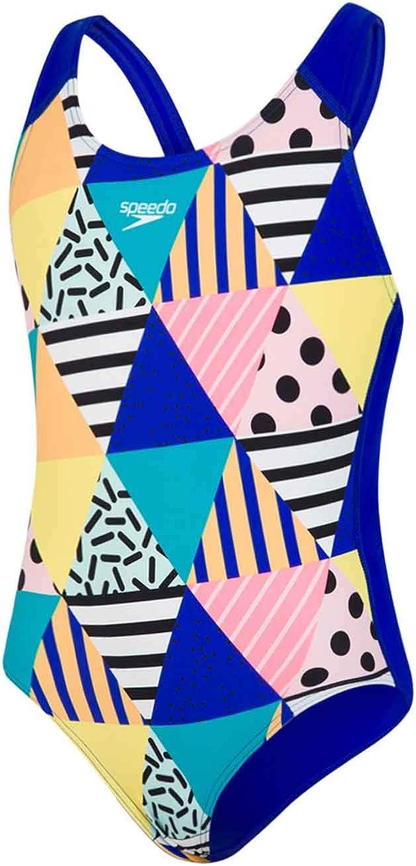 Speedo Girls DazzleBloc Placement Swimsuit//Swimming Costume