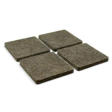ajile 24 Pcs Square Adhesive Felt Pad 4 x 4 cm Brown for Chair Leg (2 Sheets of 12) Floor Protection for Wooden Floor Square Stick-on Furniture Slide Glide - PAC840x24-FBA