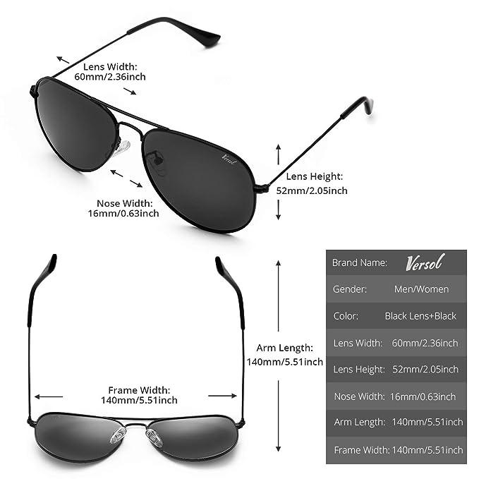 Amazon.com: Versol - Gafas de sol para hombre y mujer ...