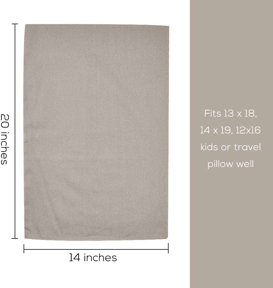 Pink Organic Cotton Toddler Pillowcase 14 x 20 Soft and Hypoallergenic Travel Pillow Case with Envelope Closure 2 Pack