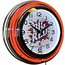 Drink BIG RED Soda Delicious Different Red Double Neon Advertising Clock Kitchen Decor