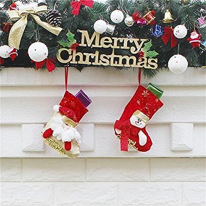 Bolsa de regalo de Navidad medias de Navidad bolsas de calcetines, asdomo Navidad Candy calcetines