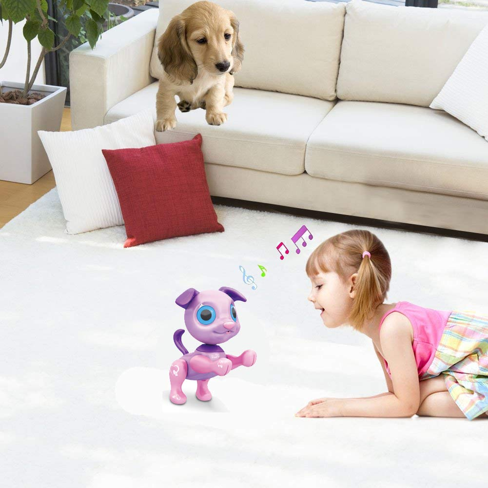 Liberty Imports My Best Friend Interactive Smart Puppy | Kids Electronic Pet Toy Robot Dog | Ideal Gift Idea for Girls (Purple) by Liberty Imports (Image #6)