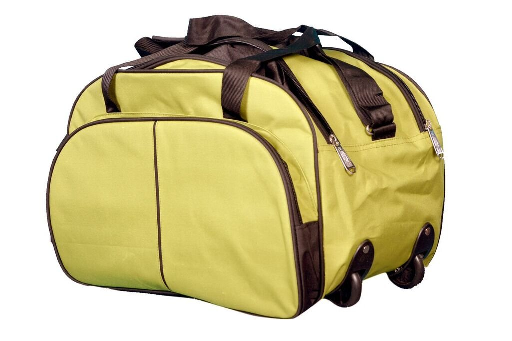 N Choice Fabric 35 Ltr Green Soft Sided Travel Duffle