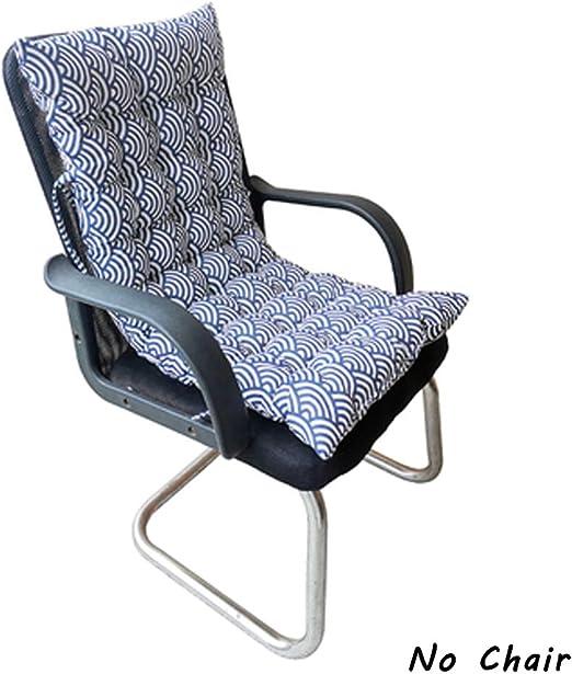 Cojín para asiento de jardín o patio con respaldo alto, asiento de madera con respaldo, para tumbona de interior y exterior, Onda.: Amazon.es: Jardín