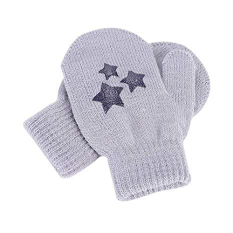 dcbc6523a59a Moufles Gants Enfant Hiver Épaisses Gants de Protection Anti-griffures Gants  en Tricot Laine Gloves