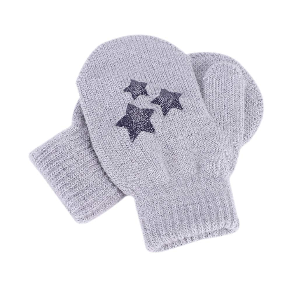 Children Warm Gloves Winter Gloves Boys Girls Knit Warm Stretchy Magic Gloves