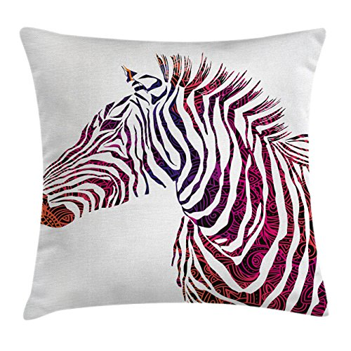 Animal Throw Pillow Cushion Cover by Ambesonne, Ornamental Z