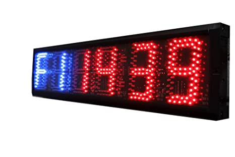 azoou 12,7 cm Crossfit interior temporizador de formación gimnasio boxeo Tabata Cronómetro LED reloj