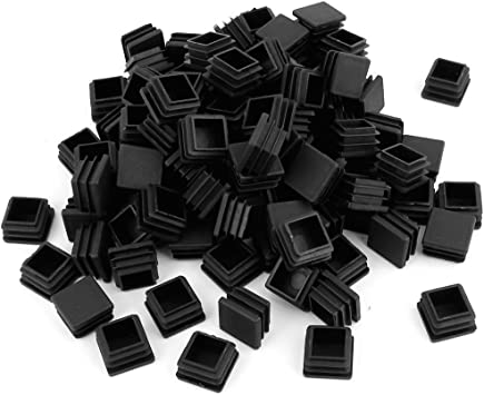 100 Pack 1 Inch Square Plastic Plug, tubing end Cap, Durable Chair Glide,it fits 1