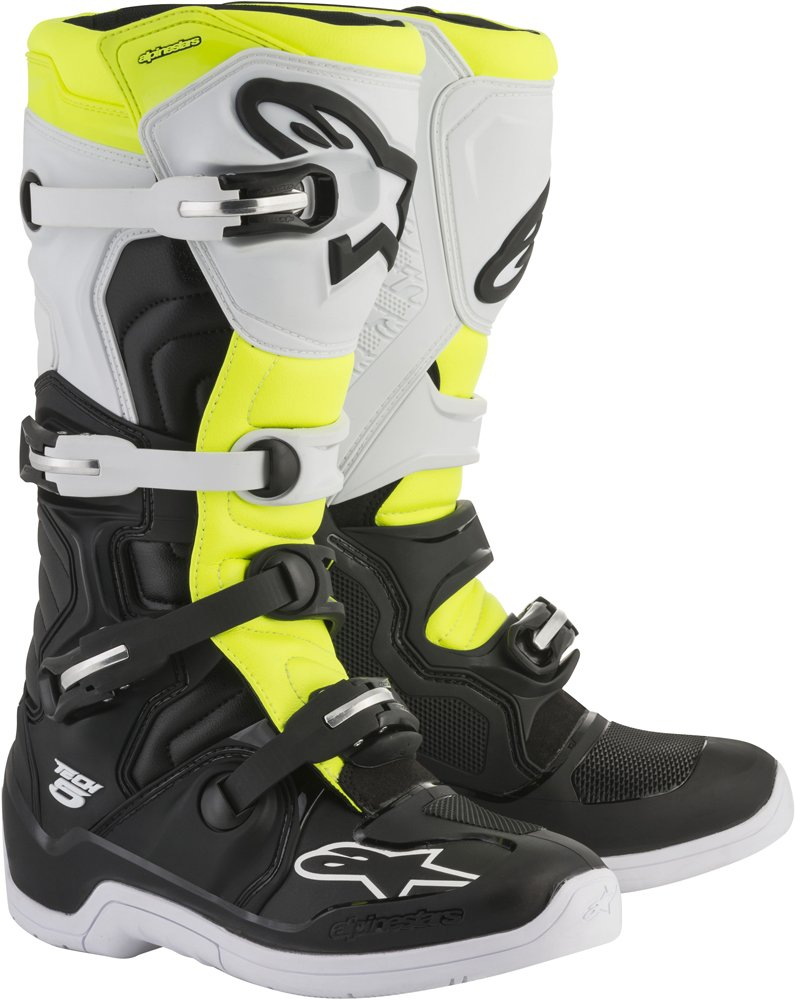 Mens Size 10 Blue//Black//Yellow Alpinestars Tech 5 Motocross Off-Road Motorcycle Boots