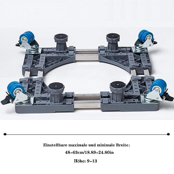 Bastidor de la base de la base de la lavadora, con 4 ruedas ...