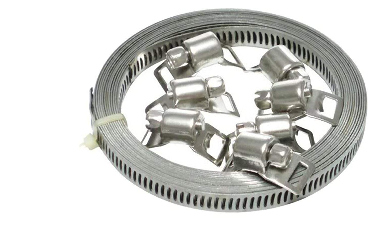 Fascette stringitubo endlos Spann nastri in acciaio inox W2/ 12,7/ mm 3/ meter con 6/ Serrature