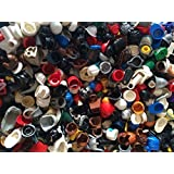 Authentic Lego Minifigure Parts Helmet Hair Hats (15 Lego Parts)