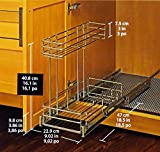 Richelieu Chrome Pull-out Cabinet Organizer 1113049