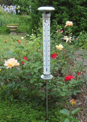 Außenthermometer / Thermometer mit Solarleuchte