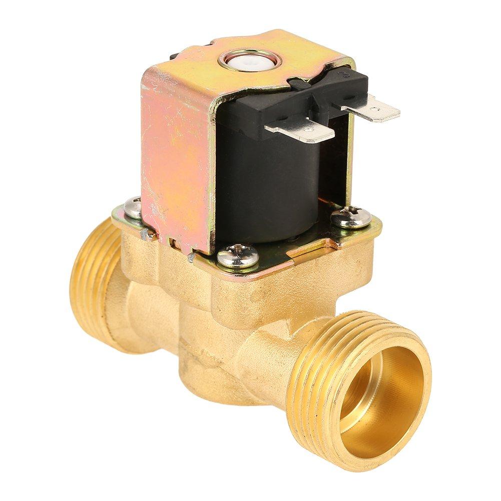 Válvula electromagnética eléctrica de latón G3/4 de agua 12 V DC normalmente cerrada: Amazon.es: Industria, empresas y ciencia