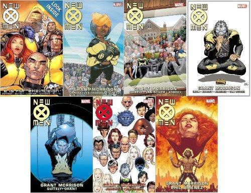 New X-Men Books 1-7 Graphic Novel Trade Paperbacks By Grant Morrison