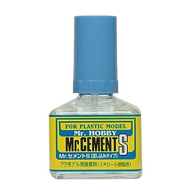 GSO Creos Gunze Mr Hobby MC129 Mr Cement S Fine Tip Extra Thin Non-Corrosive 40ml: Toys & Games