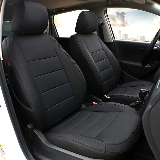 2 Black Car Seat Covers UNIVERSAL PAIR Fits FORD KA STREETKA ECOSPORT