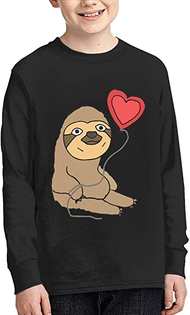 Sloth Balloon Kid/'s T-Shirt Children Boys Girls Unisex Top