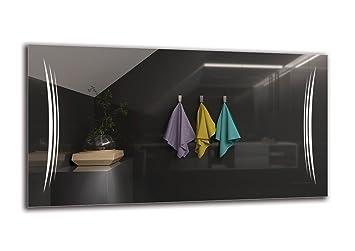 Lichtfarbe Wei/ß kalt 6500K ARTTOR M1ZP-43-40x40 Badspiegel mit LED Beleuchtung Spiegelma/ßen 40x40 cm ARTTOR LED Spiegel Premium Wandspiegel Fertig zum Aufh/ängen Lichtspiegel