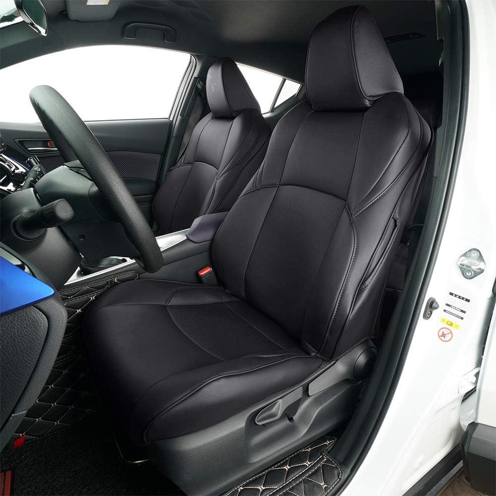 Behave Autositzbezüge Leder Passend Für Toyota Chr 2018 2019 Autositzbezüge 4 X Sitzkissenbezüge 5 X Kopfstützenbezug Schwarz Ch Zd001 001 Auto
