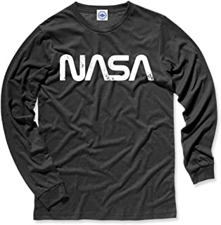 product image for Hank Player U.S.A. NASA Retro Worm Logo Men's Long Sleeve T-Shirt