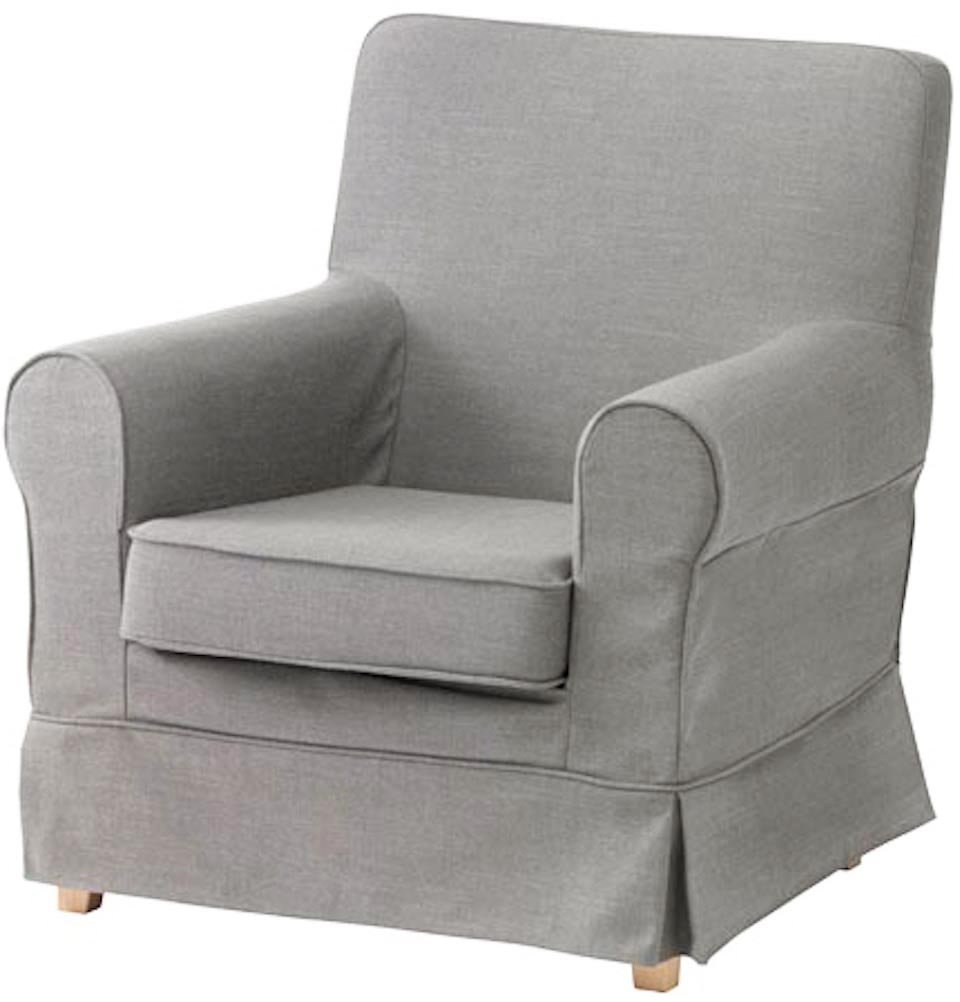 The Ektorp Jennylund Cover Replacement is Custom Made for IKEA Jennylund Chair. an IKEA Armchair Sofa Slipcover Replacement (Cotton Light Gray)