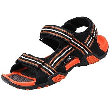 Wangcui Herren Outdoor Sport Sandalen Schuhe Textil Orange 43