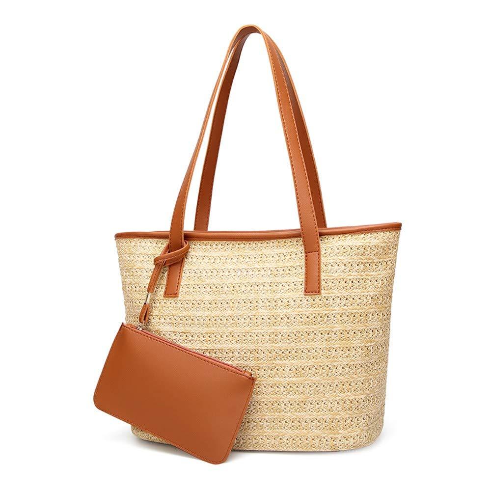 Straw Shoulder Bags Women...