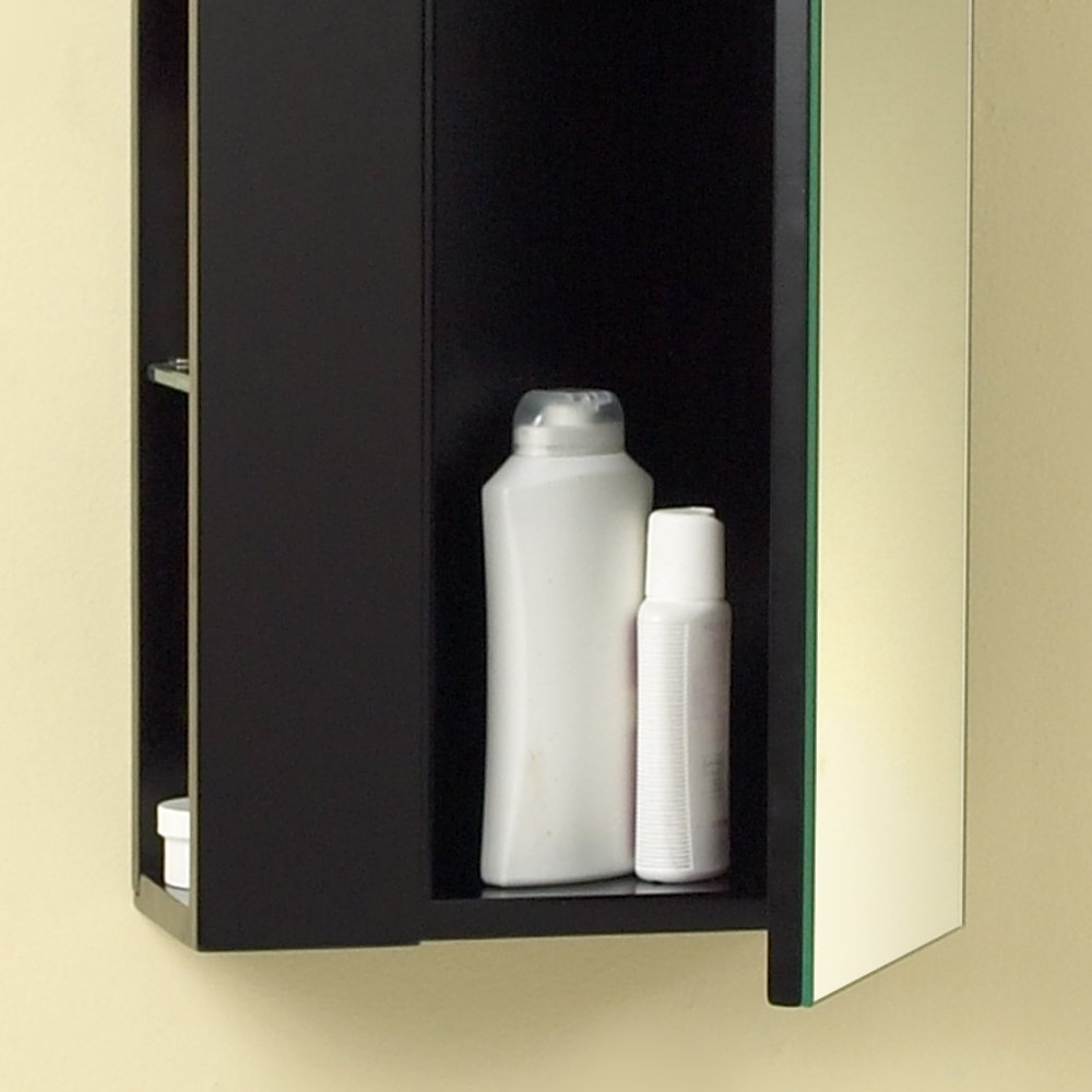 Amazoncom Fresca Bath Fst1024es Bathroom Linen Side Cabinet With Large Mirror Door Espresso Kitchen U0026 Dining