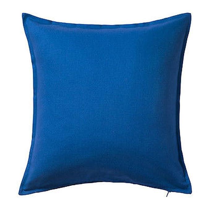 Ikea Gurli Cushion Pillow Cover Cotton Blue: Amazon.es: Hogar