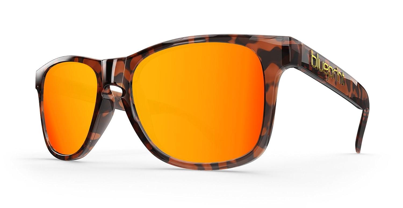 Blueprint Eyewear Noosa Wayfarer // Orange Tortoise, Tortoise Sonnenbrillen mit polarisierten Orange Spiegel Lens