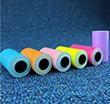 Paperang P1 color stickers thermal paper 5730 with adhesive photo printing paper 6 rolls different color