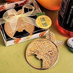 FavorOnline Citrus Wheel Gold Tropical Bottle Openers, 18