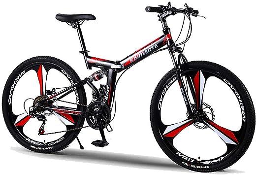 F-JWZS Unisexo Bicicleta de Montaña, 21/24/27 Velocidad Bicicleta ...