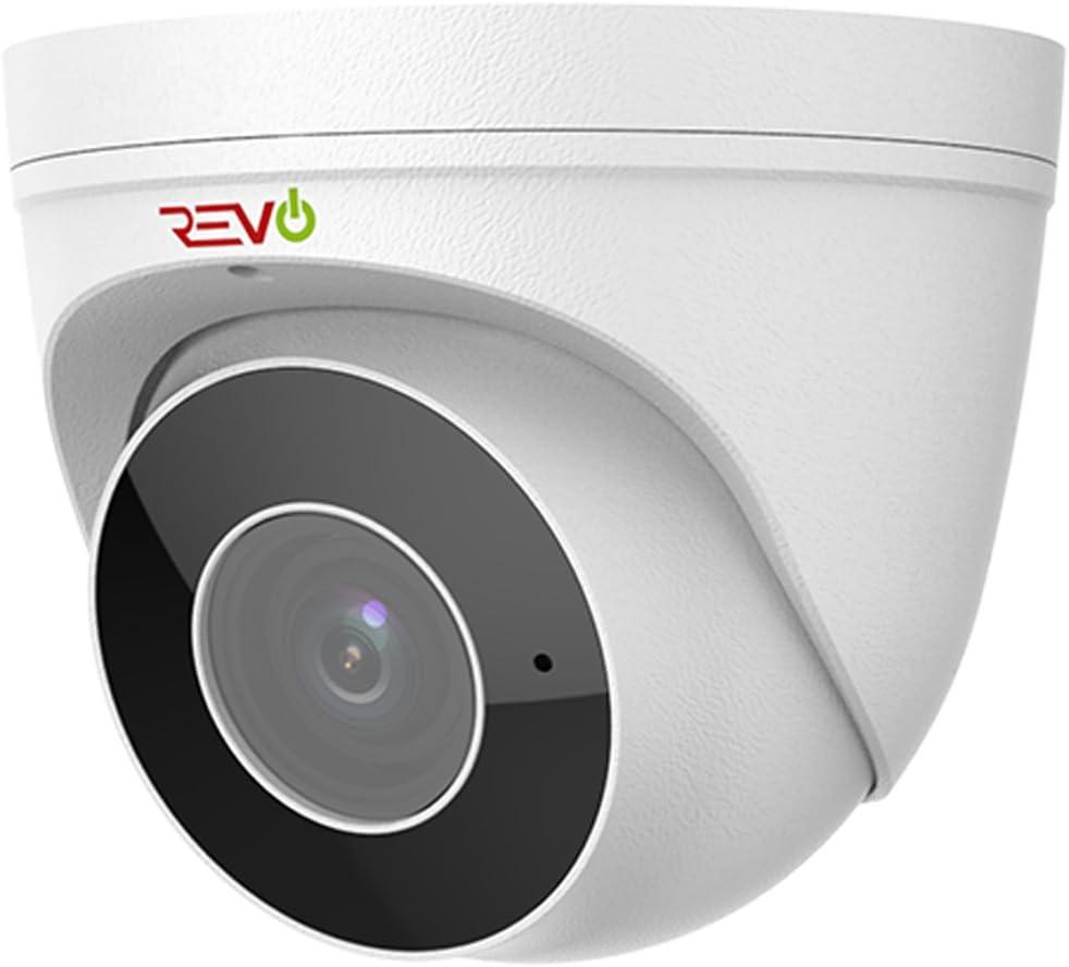Revo America Ultra HD 5MP Starlight Audio Capable IP IR Turret Camera Motorized Lens – 175 Night Vision, Indoor Outdoor