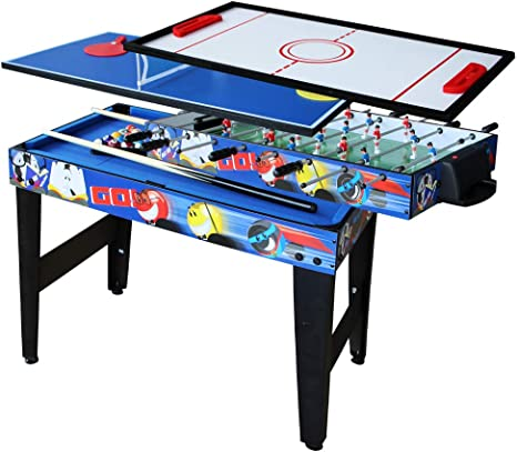 Pool Table Tabletop Foosball Table Kids Hockey Table Ping Pong Table Tennis with All Accessory KAKIBLIN 4 in 1 Multi Game Table Set