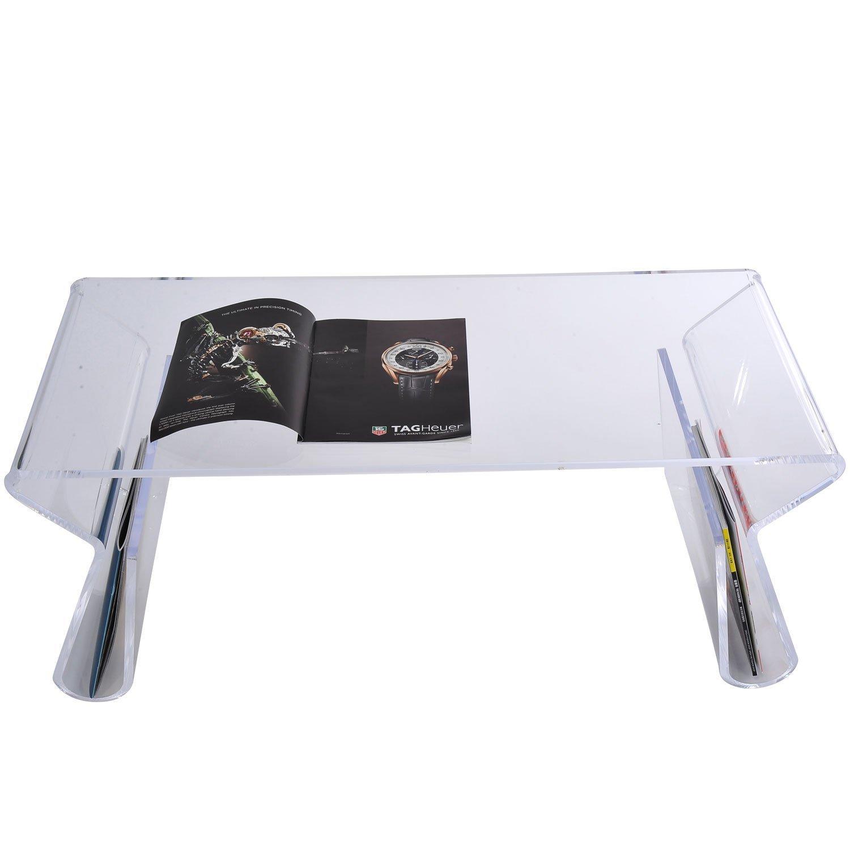 Homcom 02 0346 Beistelltisch Glas Transparent 98 X 43 39 Cm Amazonde Kche Haushalt