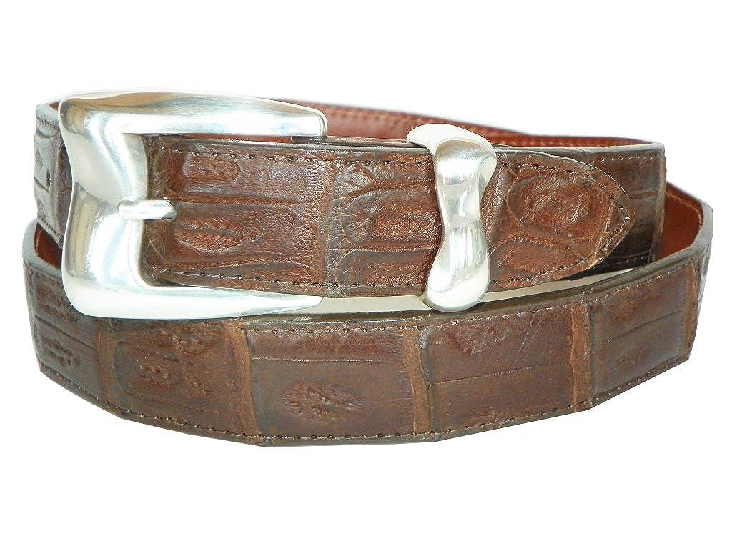 Genuine Crocodile Belt with Malibu Buckle by Charles Underwood