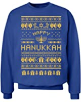 Happy Hanukkah Sweater!: Unisex Hanes Ultimate Crewneck Sweatshirt