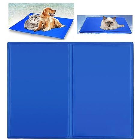 Ligopet Alfombrilla Refrescante estera alfombrilla refrescante para perro de mascota Alfombrilla de refrigeración (L: