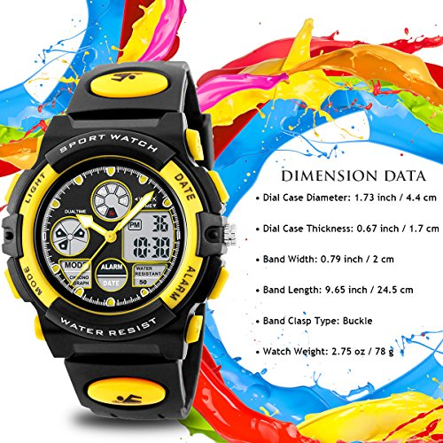 Double Time Kids Calendar : Beswlz boys watches multifunction dual time digital